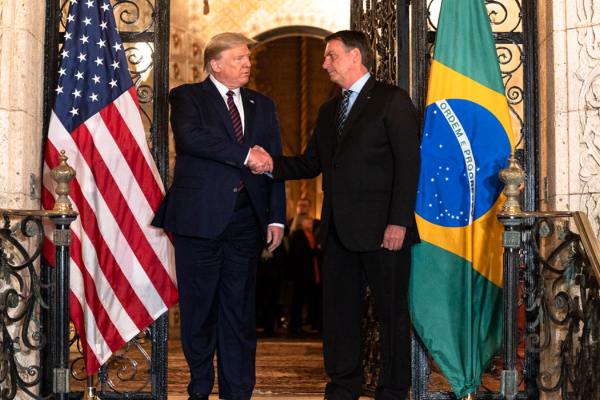 Trump Bolsonaro mar a lago Meeting