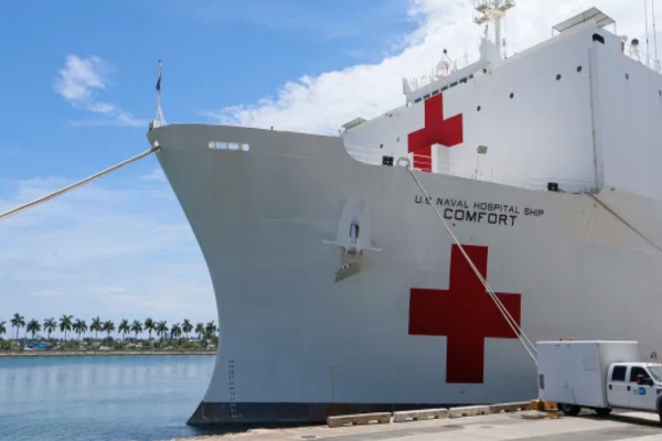 Trump Plans Visit and Send off to the Comfort Hospital Ship