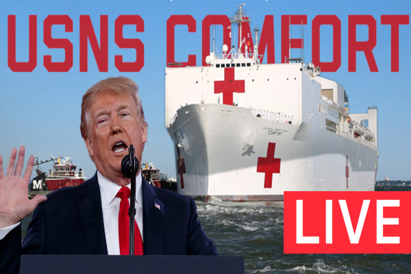 Trump USNS Comfort Speech Live Website