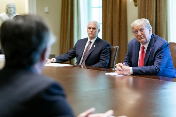 President Donald Trump Meets with Healthcare Executives amid Coronavirus