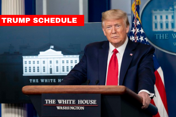 Trump Schedule web